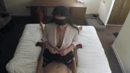 Horny Secretary Facial in Hotel