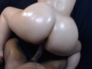 Fucking my boys slut little sister doggy style, cumshot on bubble butt!