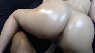 Slut fucking little on bubble butt style sister cumshot my boys doggy of oiled