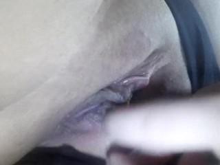 Teen touching herself in sensual way