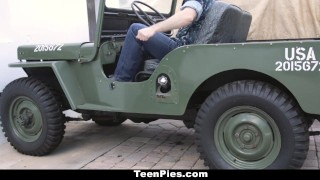 TeenPies - Girlfriend Gets Creampied By Military Boyfriend Big pov