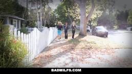 BadMILFS - Hot MILF Shares Stepson With BFFS