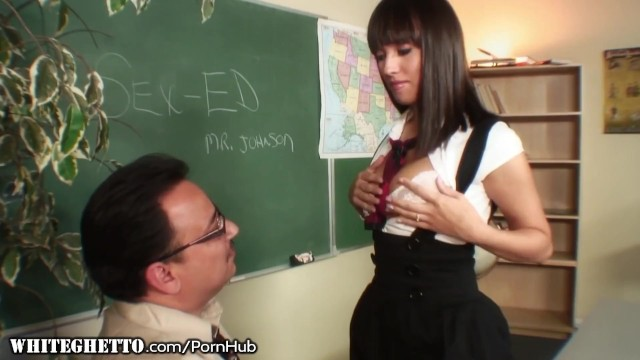 Big white ghetto ass Naughty student nadia aria fucks her way up to an a