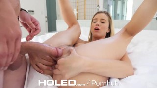 HOLED Small breasted Haley Reed toying asshole before anal pounding Big creampie