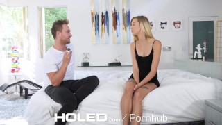 HOLED Small breasted Haley Reed toying asshole before anal pounding