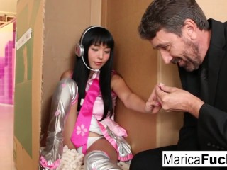 Preview 2 of Sex robot Marica gets anally charged by Steve Holmes