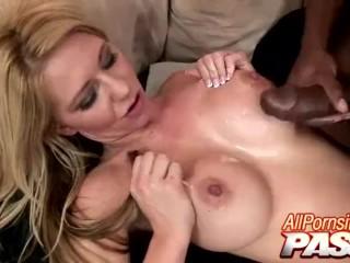 Blacked Ashley Winters Jizzed On Her Tits