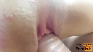 Fucking F Cup Tits Teen on the Couch, Cum in Between her Boobs !