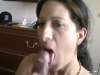 Busty wife sucks her hubbys big cock