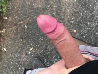 Young gay man parking lot masturbating