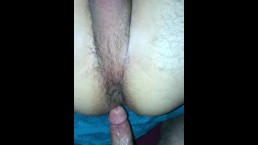 Horny Latino bottom takes big college cock bareback