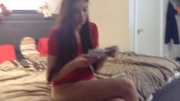 Teen Learns How to Use a Tampon