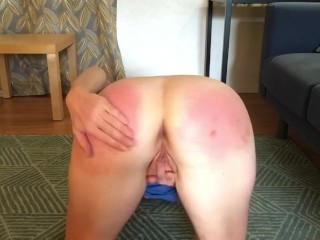 Ass Spanking Slave Girl Getting Off