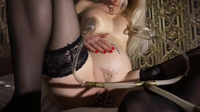 Long sex vides - Air belly inflation vacuum nipples
