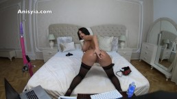 Anisyia Jasmin huge ass oily ANAL stretch tiny asshole abuse