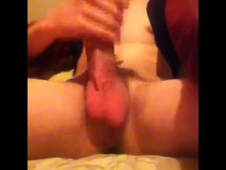 Hung White Dick Jerk and Cum