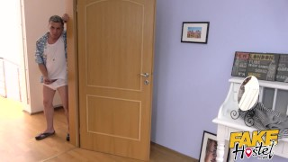 Fake Hostel - Freckle faced girl with nice ass and big nipples creeped on Lesbians school