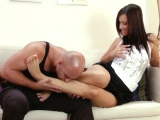 Private foojob and anal session