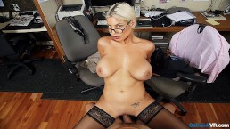 BaDoinkVR.com Busty Spex Office Slut Bridgette B Rides Your Cock