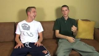 Hot David Bryan and Brian Gunn are jerking off buddies porno