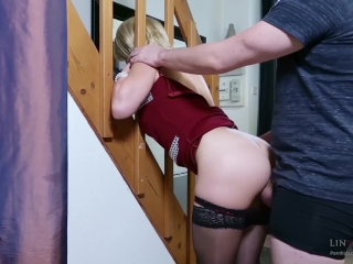 Step-mom stuck force fucked, get anal sex and cum in mouth by step-son