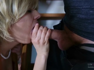 Preview 2 of Step-mom stuck force fucked, get anal sex and cum in mouth by step-son