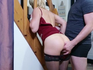 Preview 6 of Step-mom stuck force fucked, get anal sex and cum in mouth by step-son