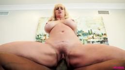 Big ass MILF pleasured by huge black rod