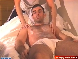 Handsome male gets wanked his cock in spite of him: Esteban