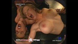 Two Blonde MILFS fucked and creamed Side by Side