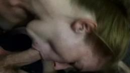 Amanda Woods nude blow job load shot on tiny chest. Texas/Houston suck slut