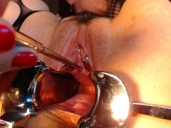 AdalynnX - Sounding My Cervix and Peehole