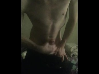 Jerking my thick cock and shooting a hot messy load (w/ slow-mo cumshot)