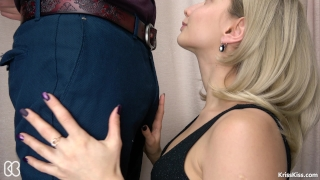 Secretary Suck Big Cock and Swallows Cum, 4K (Ultra HD) - Kriss Kiss Tugging wanking
