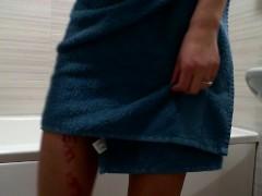 Girl having multlple orgasms shaking after work