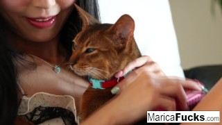 By marica gets japanese star a cock black railed drilled doggystyle