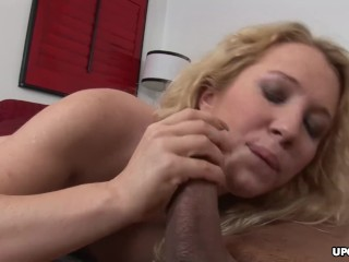Blonde with fake boobs facialized and ass fucked thoroughly