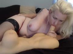 Giving My Trans Sex Doll A Sloppy Blow Job