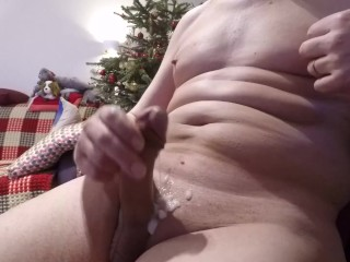 Masturbation in the New Year. Cumshot