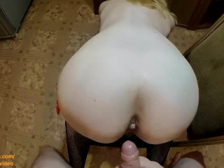 Teen with little big ass fucked by young boy in doggystyle POV HOT