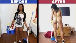 Bangbros - Zwarte schoonmaakster Arianna Knight heeft een geweldig lichaam