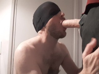 Straight guy sucks huge cock, phantasm - practising, who wants to be next?