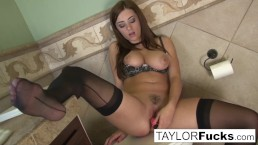 Taylor Vixen Looks Extra Hot In Black Stockings