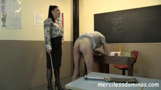 Back To School - Strict Teacher Sarah Kelly Bowjob fetish