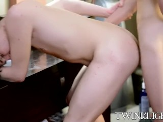 Blowjob time and cowgirl riding with AJ and Conner Bradley