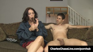 Brunette Milf Charlee Chase Smokes Cigar & Bangs A Big Dick!