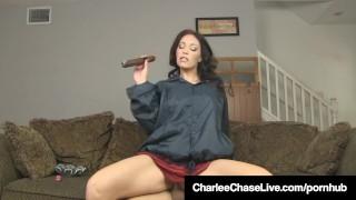 Brunette Milf Charlee Chase Smokes Cigar & Bangs A Big Dick! Cum ball