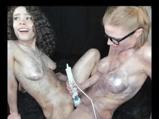 MILF AND TEEN GLITTER SEX WITH LANA MARS