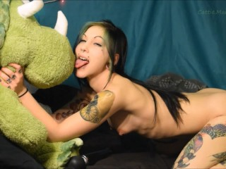 Silly N Fun Triceratops Stuffed Plush Humping Licking Hitachi Orgasm