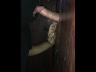 Servicing big dick from gloryhole - Houston : kik:itswildsam